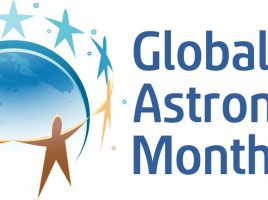 logo for GLobal Astronomy Month of Astronomers Withouth Borders