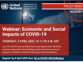 webinar announcement Economic and Social Impacts of COVID-19